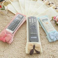 Best Bowknot Lace Remote TV Control Dustproof Full Cover Bags Protector AJ21