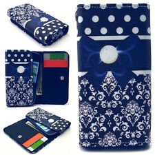 Blue Butterfly Knot Magnetic Case Cover For Call Phone Samsung /Sony /HTC /LG