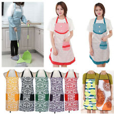 Waterproof Women Apron Kitchen Restaurant Bib Cooking Aprons Dress With Pockets