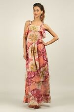 Kushi / Anmol Strappy Floaty BoHo Festival Maxi Dress PINK MULTI Size 10 to 20