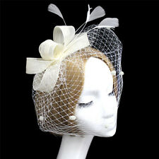 Cocktail Party Prom Women Decorative Fashion Wedding Feather Veil Hat Hair Clip
