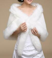 2015 new Bride shawl ivory faux fur wedding dress Bolero wrap cape shrug jacket