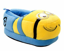 BOYS DESPICABLE ME MINION 3D SLIP ON CHARACTER NOVELTY SLIPPERS UK SIZE 8-2