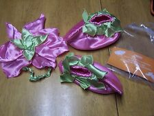 NWT Gymboree Pink Blossom Fairy Halloween Petal Hat & Booties 12-24 mo OR 2T-3T