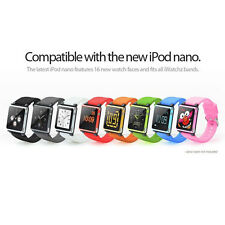 Silicone Watch Band Wrist Strap Case Cover for iPod Nano 6 6th generation 8color