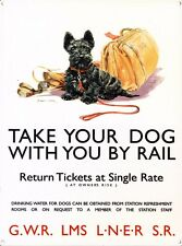 New Take Your Dog By Rail National Railway Museum Metal Tin Sign