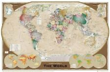New The World Sophisticated World Map Poster
