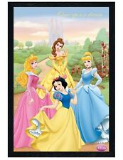 Disney Princesses Black Wooden Framed Once Upon a Dream Poster 61x91.5cm
