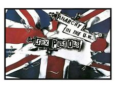 Sex Pistols Gloss Black Framed Anarchy in the UK Maxi Poster 91.5x61cm