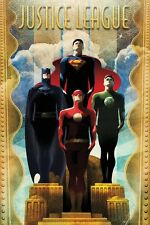 DC Comics Justice League Team Art Deco Poster 61x91.5cm