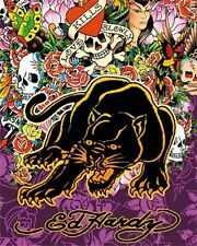 New Panther Collage Ed Hardy Poster Card