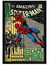 New Black Wooden Framed The Amazing Spider-Man Escape Impossible Poster