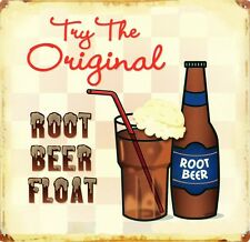 New Try the Original! Root Beer Float Metal Tin Sign