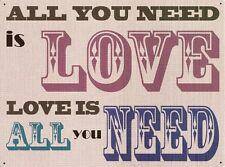 New The Beatles All You Need Is Love Metal Tin Sign
