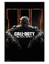 Call of Duty Black Ops 3 Gloss Black Framed Cover COD Maxi Poster 61x91.5cm