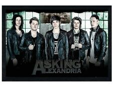 Asking Alexandria Black Wooden Framed Window AA Maxi Poster 61x91.5cm