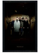 Radiohead Black Wooden Framed Group Maxi Poster 61x91.5cm