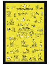 Andy Riley's Black Wooden Framed Bunny Suicides Maxi Poster 61x91.5cm