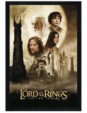 Lord of the Rings Black Wooden Framed Two Towers LotR Poster 61x91.5cm