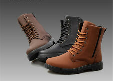 2016 Retro Combat Boots Winter England-style Fashionable Men's Short Black Shoes