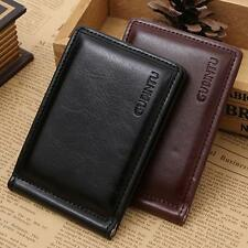 Mens Leather Wallet Mini Zipper Credit Card Holder Coin Purse Money Clip Wallet