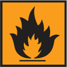 Dang0033 Flammable Sign Sticker Health Safety Warning