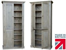Solid Pine Cupboard, 7ft Tall Handcrafted Larder,Pantry,Kitchen Storage Cabinet