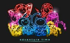 Adventure Time - With Finn & Jake Fabric Art Cloth Poster 21 x 13