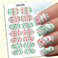 New 1 Set 14pcs Christmas Design 3D Nail Art Stickers Decals Nail Decoration