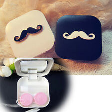 Lovely Travel Beard Appearance Contact Lens Case Box Container Hot Sale
