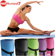 Yoga Mat Extra Thick 10mm NBR Gym Pilate Floor Fitness Non Slip FREE Carry Strap