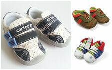Baby Boy White Navy Green Soft Sole Pram Pre-walker Shoes Boots Size 2 3 4 Gift