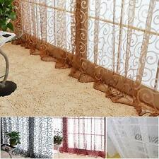 Hot New Floral Voile Door Window Curtain Sheer Drapes Scarf Panel Valances D76