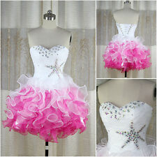 Sweetheart Mini Short Cocktail Prom Dresses Organza Homecoming Party Ball Gowns