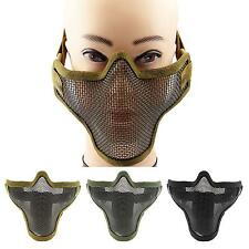 Half Face Metal Mesh Paintball Airsoft Military Strike Protective Mask