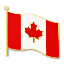 PinMart's Canada Canadian World Flag Enamel Lapel Pin 3/4''