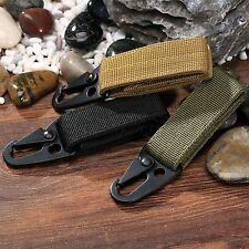 Tactical Military MOLLE Webbing Buckle Nylon Keyhook Hanging Belt Carabiner Clip