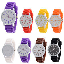 Unisex Silicone Sports Watch  Simple Dial Candy Color Quartz Analog Wrist Watch