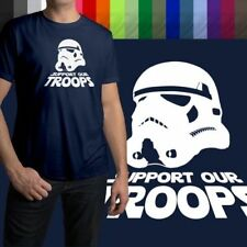 Support Our Troops Star Wars Stormtrooper Cool Mens Crew Neck Tee Unisex T-Shirt