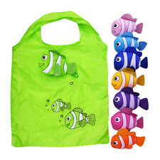 Cute Reusable Fish Folding Shopping Bag Travel Bag Grocery Bags Shopper Tote RD