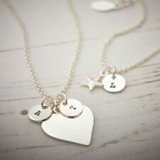 Personalised Jewellery - Silver Plated Heart & Star Bracelet / Necklace + Charms