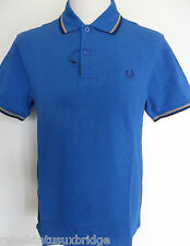 FRED PERRY T-Shirt Men's Twin Tipped Polo Regular Fit M1200 Regal Size: Small