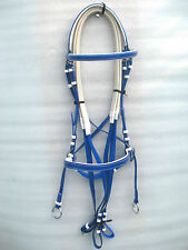 New BIOTHANE Cross Over Bitless Bridles with rubber Reins in 5 colour & 3 sizes