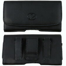 Leather Sideways Belt Clip Case Pouch Cover Holster For Motorola Cell Phones