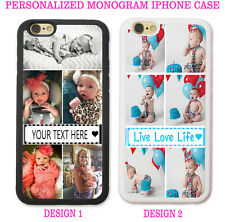 PERSONALIZED PHOTO COLLAGE Case Cover For iPhone XR XS X 8 7 6 SE Custom Picture