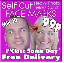 35 Custom Made Self Cut Face Mask Kits Birthday Party Fancy Dress Stag Hen Party
