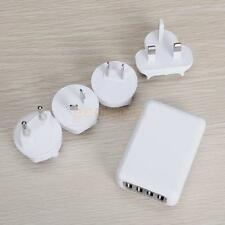 4 Ports USB AC Adapter Travel Charger for iPhone iPad AU EU US UK