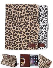 Luxury Leopard Flip Stand Smart Leather Case Cover For iPad 6 Mini Samsung Tab A