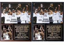 San Antonio Spurs 2005 NBA Champions Photo Plaque Tim Duncan MVP