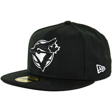 New Era 59Fifty Cooperstown Toronto Blue Jays Fitted Hat (Black/White) Men's Cap